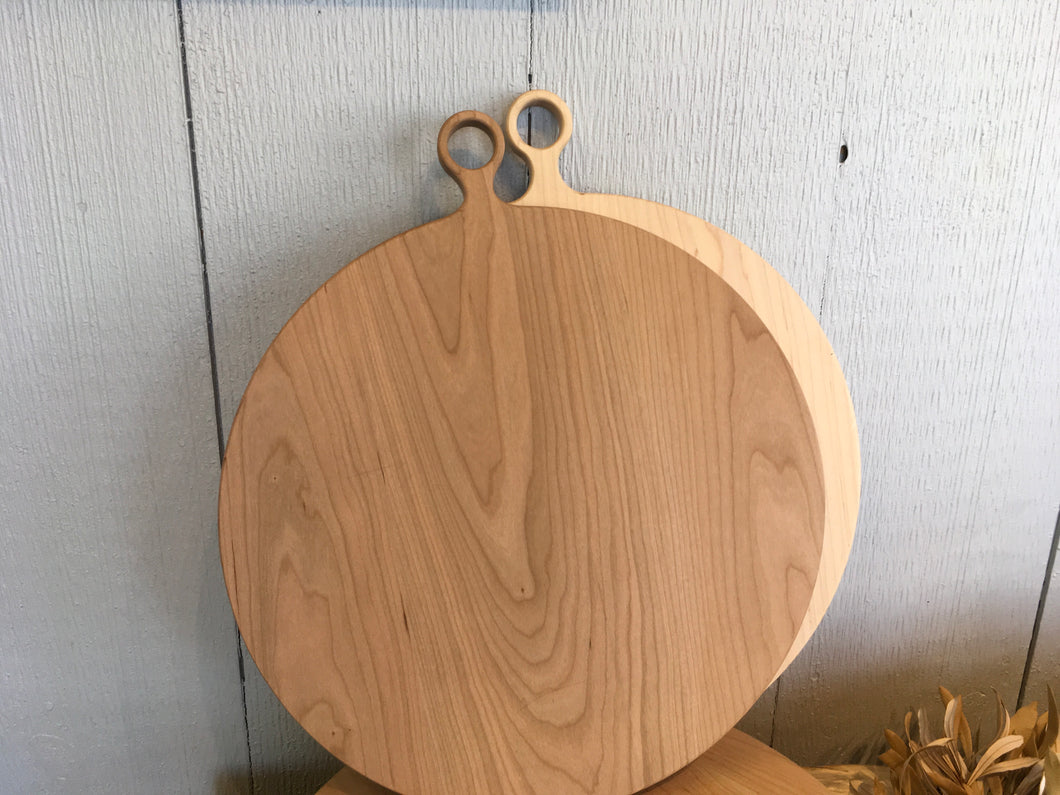 Round Cherry Cutting Board- Large