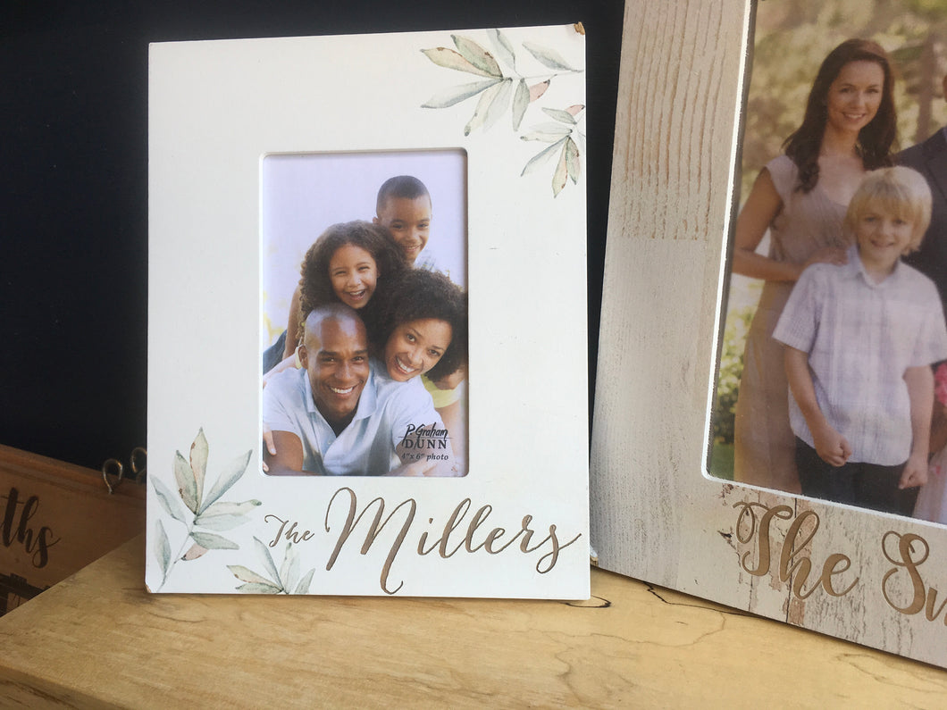 Botanical 4x6 Photo Frame - Engravable