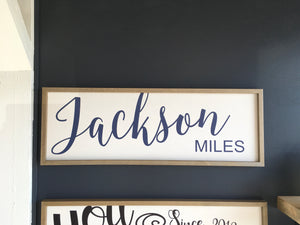 Large First/ Middle Name Sign 12x36