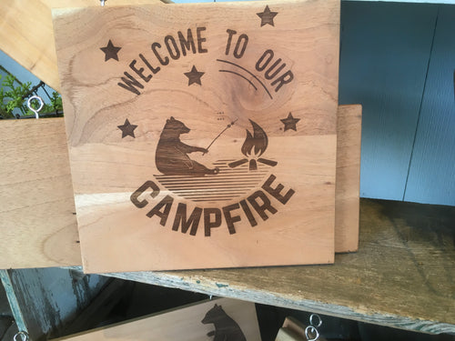 Large Square Camper Sign