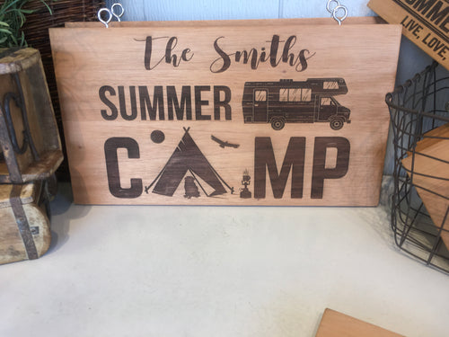 XLarge Camper Sign