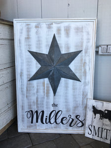 Metal Ornament Sign Large
