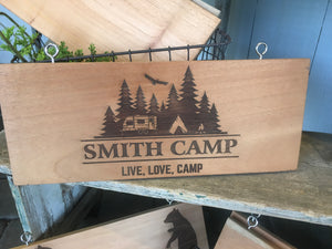 Large Camper Sign