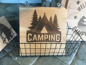 Small Square Camper Sign
