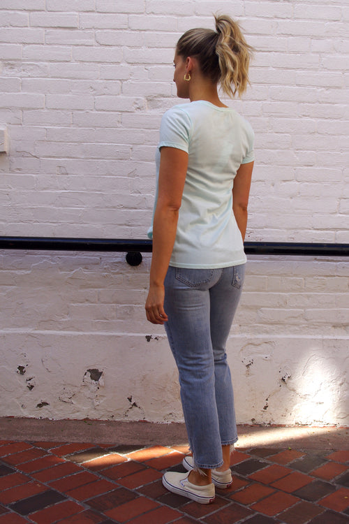 Bobi - Side Knot Tee in Spa