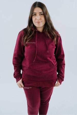Shine The Light On - Hoodie in Maroon -STLO at Heidi-Ho2