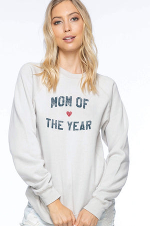 Suburban Riot - Mom Of The Year Willow Sweatshirt in Oatmeal