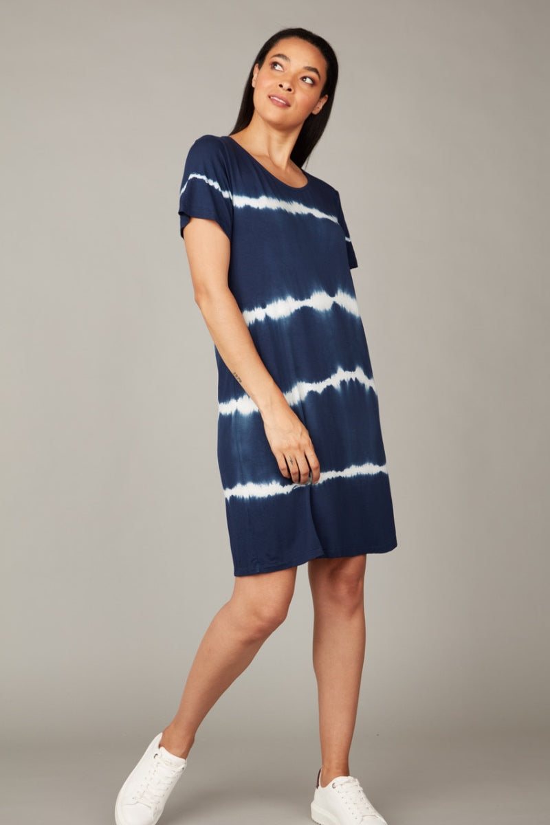 Pistache - Tie Dye Dress in Blue