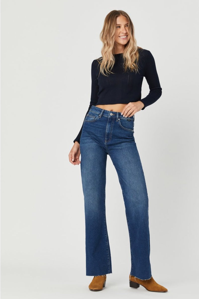 Mavi - Victoria Wide Leg Jeans in Dark Used 90's