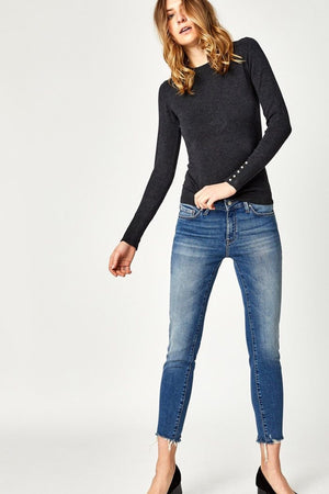 Mavi Adriana - Mid Ankle in Shaded 80's vintage Jeans