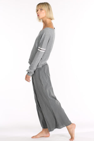 Hello Nite - Smoke Woven Pant in Pebble (top is not available)