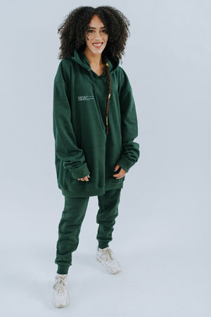 Shine The Light On Hoodie - in Forest Green