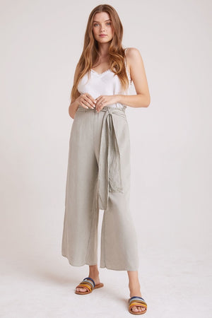 Bella Dahl - Tie Waisted Leg Crop - Worn Olive