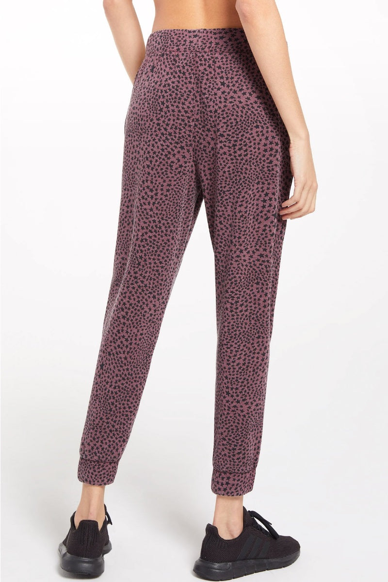 Z Supply - Cadence Stardust Joggers in Merlot