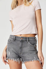 Mavi - Rosie in Grey London Stretch shorts Heidi-Ho2