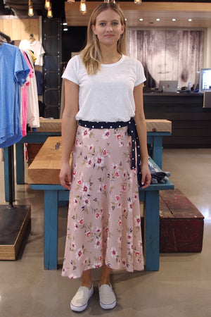 Velvet Brand - Kaden Pink Floral Midi skirt (Blouse sold Separately)