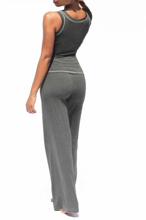Tara Rivas - Comfy Wide Leg Pant in Grey