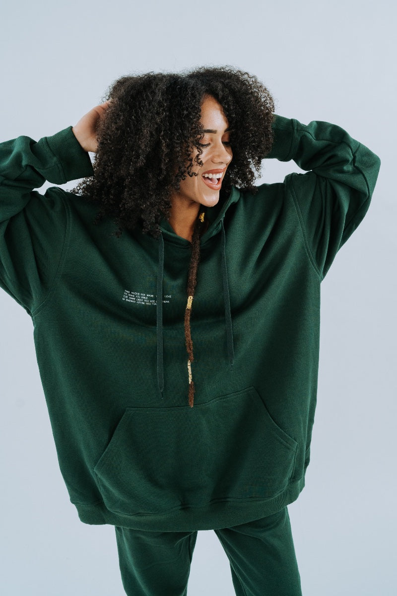 Shine The Light On Hoodie - in Forest Green - Heidi-Ho2 STLO