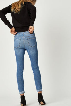 Heidi-Ho2 Mavi - Tess Highrise Skinny Mid Blues 90's Stretch Denim