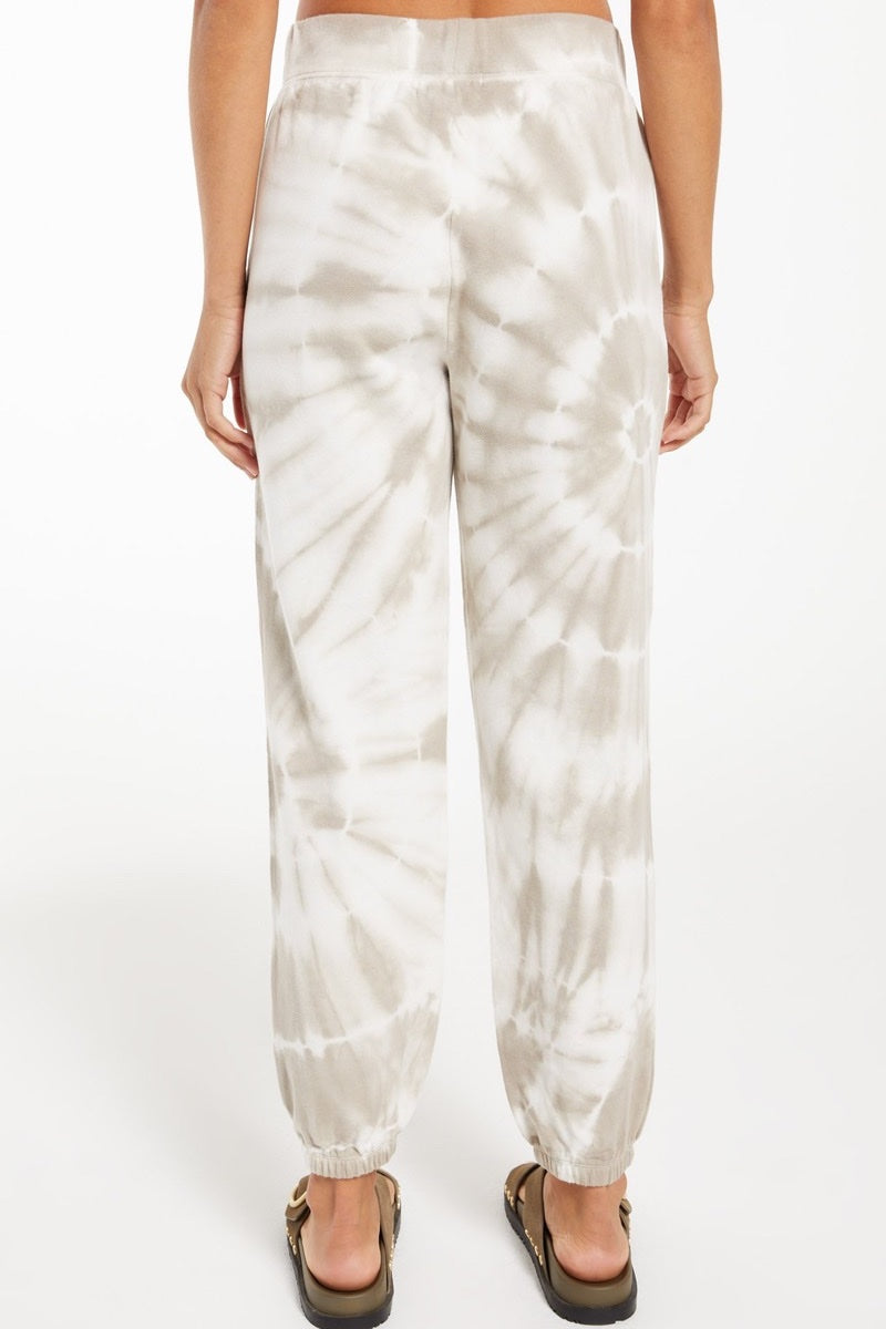 Z-Supply - Emery Spiral Tie Dye Jogger in Taupe