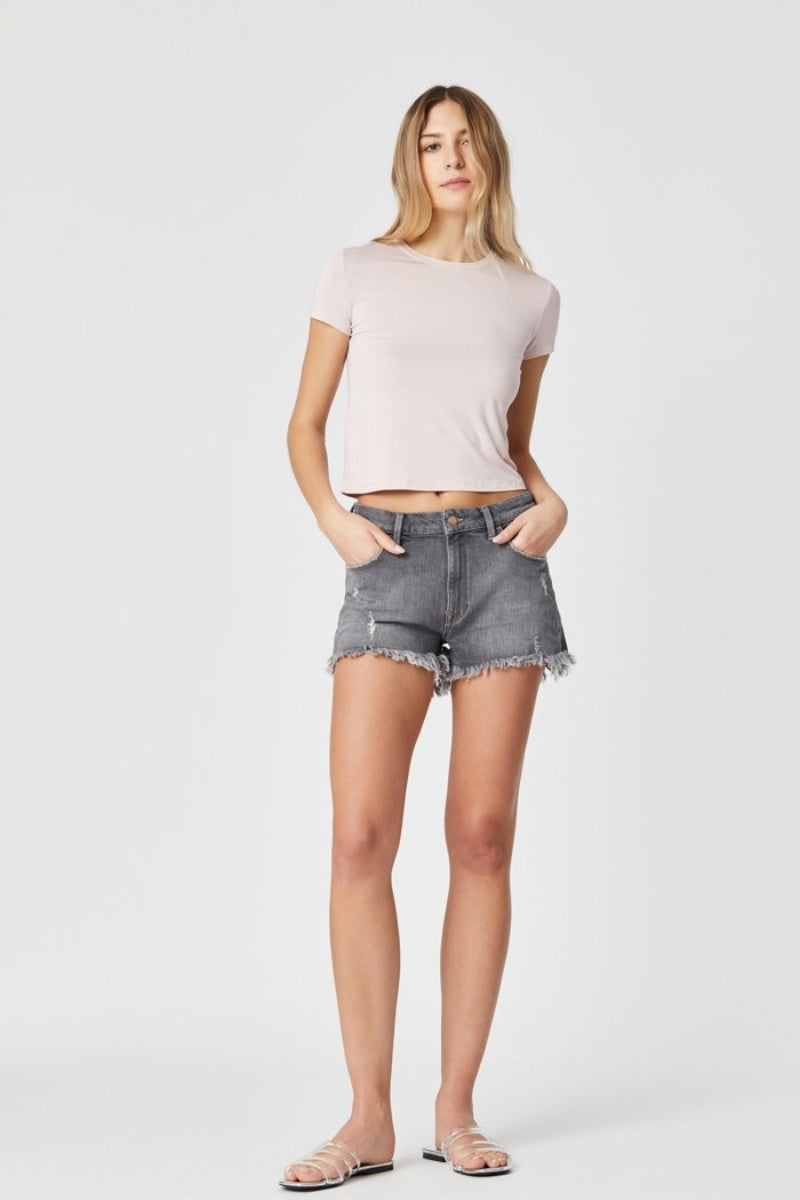 Mavi - Rosie in Grey London Stretch shorts