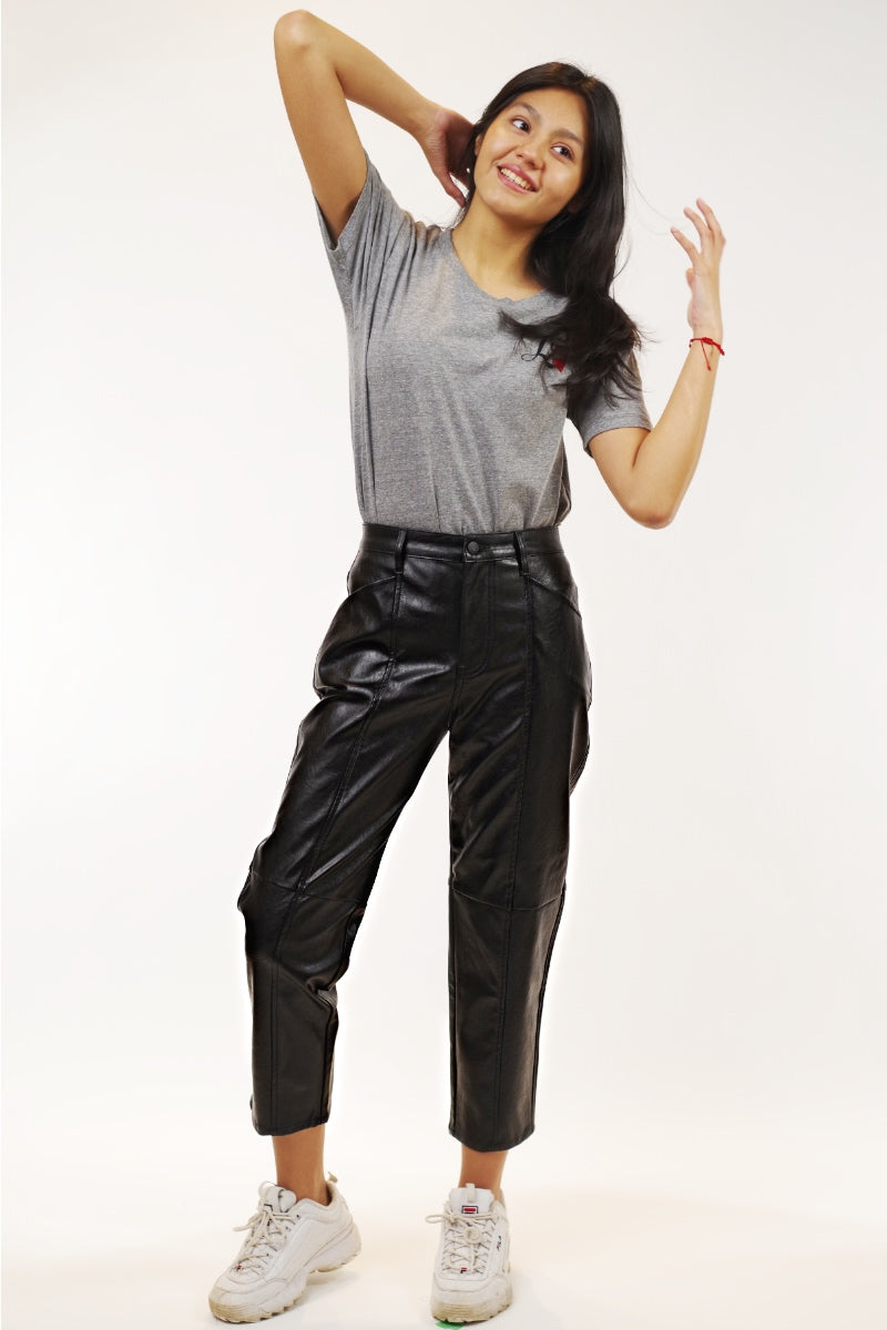 Pistola -Tess Faux Leather Utility Pant
