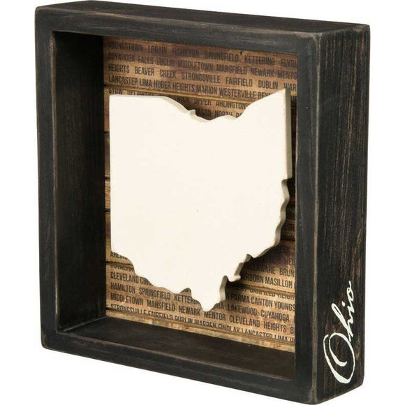 Rustic Ohio Shadowbox