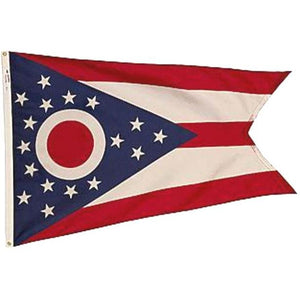 Ohio Flag Flown at the Ohio Statehouse
