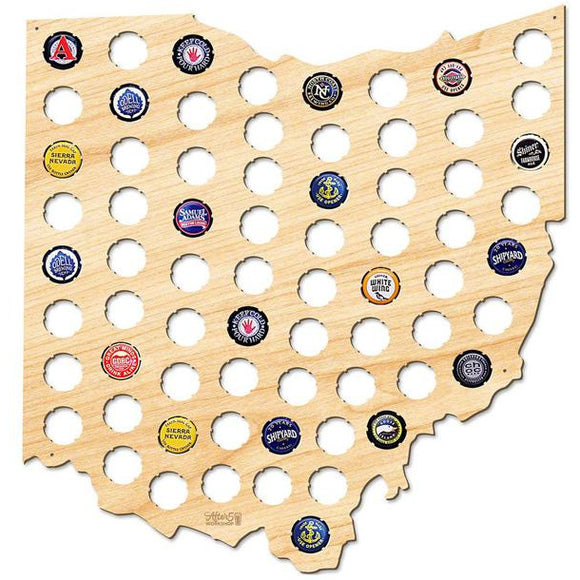 Ohio Bottle Cap Map