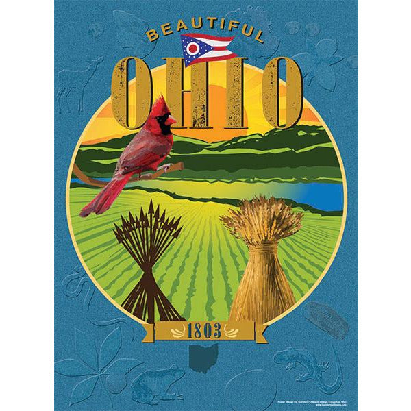 Beautiful Ohio Poster 18 x 24