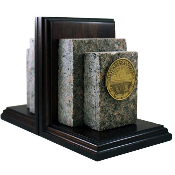 Ohio Statehouse Granite Bookends Exclusive