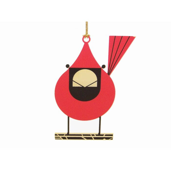 Charley Harper Close up Cardinal Ornament