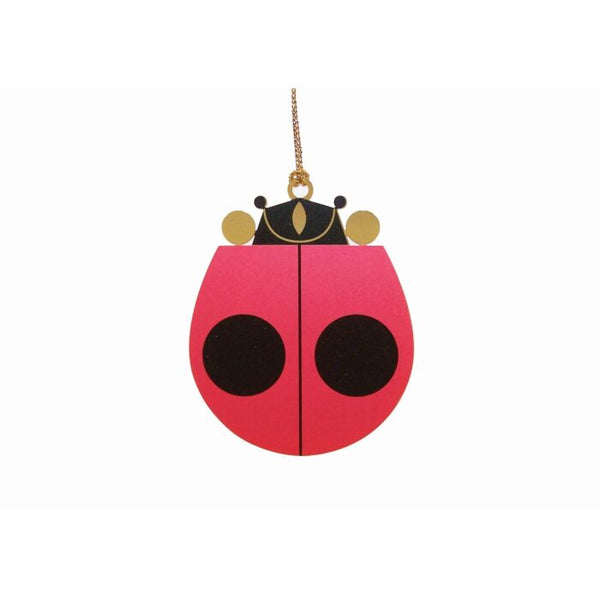 Charley Harper Lady Bug Ornament