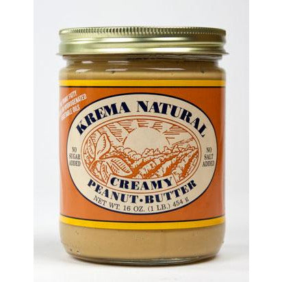 Krema's All Natural Creamy Peanut Butter