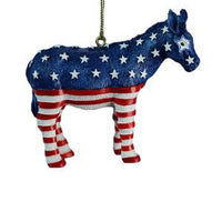 Patriotic Donkey Ornament