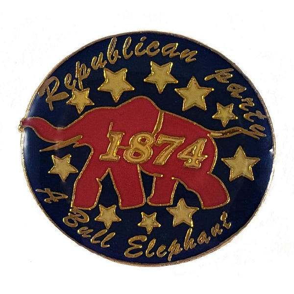 Republican Party 1874 Elephant lapel pin