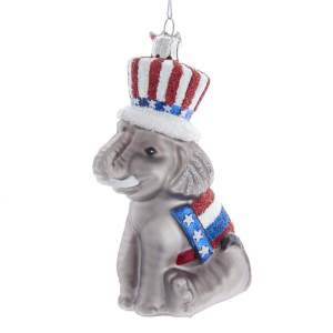 Glass Elephant Ornament Republican