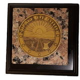 Ohio Seal Granite Paper Weight Exclusive