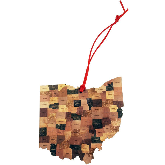 County Map Room Ornament