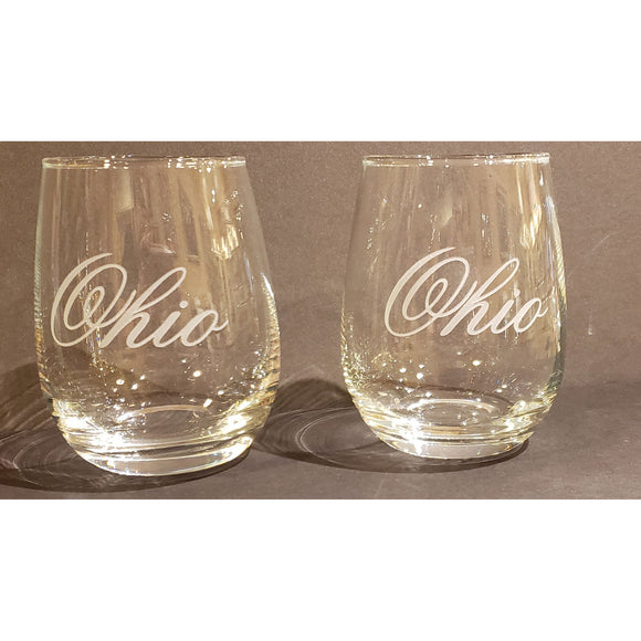 Ohio Stemless Wine Glasses