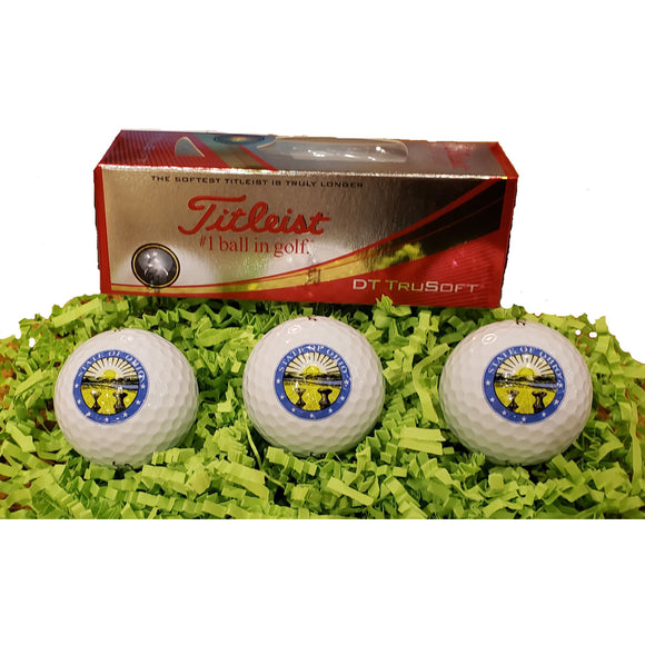 Ohio Seal Embossed Titleist 3 Pack golf balls