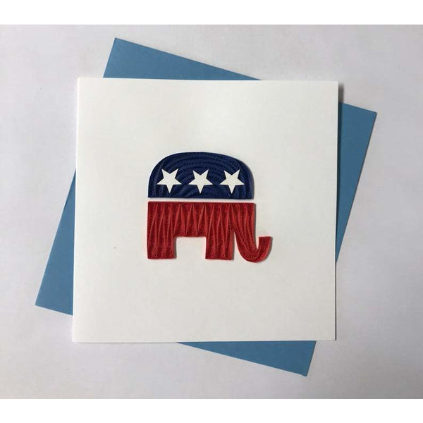 Republican Quilling Card