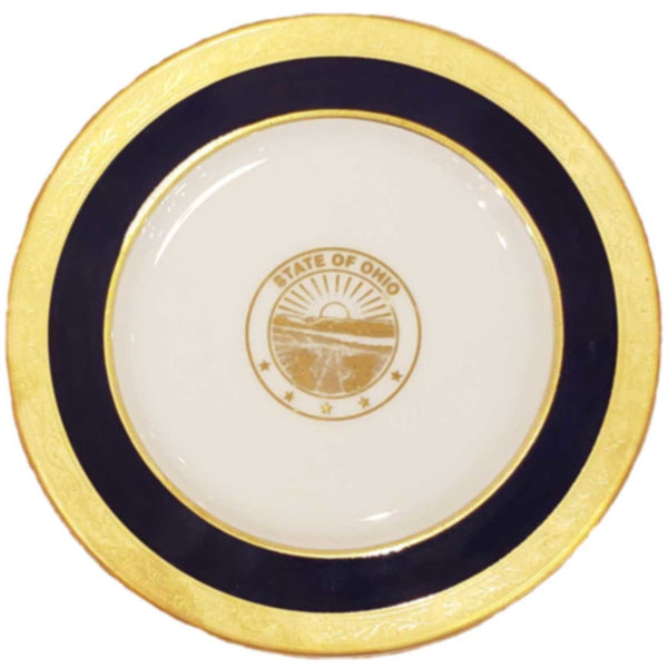State Seal China Plate 10 1/2""