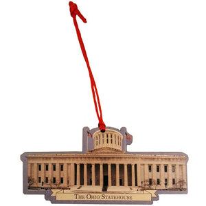 Ohio Statehouse Cutout Ornament