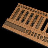 Laser Cut Wood Statehouse Wall Hanging Customization Available