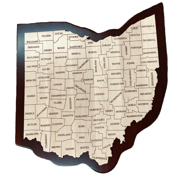 Wooden Ohio County Map
