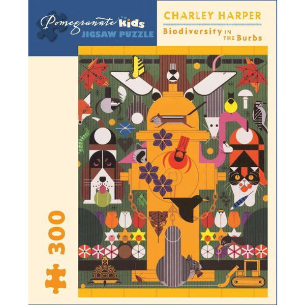 Biodiversity in the Burbs Puzzle Charley Harper