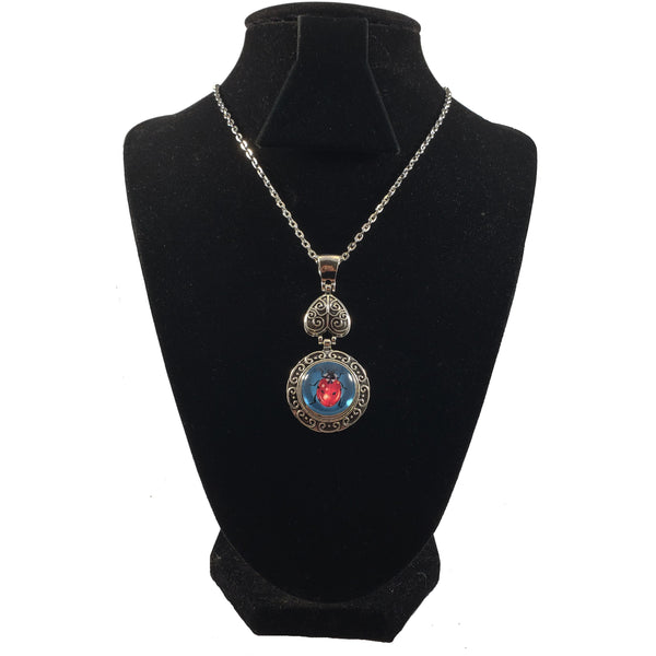 Piccadilly Ladybug Snap Button Necklace