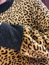 Faux Fur Leopard Sweater/Tunic with POCKETS - S & M