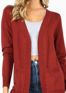 Lightweight Open Cardigan - 9 Colors S-XL (1X-3X in separate listing)